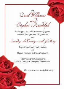 Breathtaking rose wedding invitations theruntimecom for Wedding invitation templates with roses