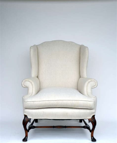 big comfortable chairs large comfortable carved wing back chair at 1stdibs