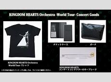 Kingdom Hearts Orchestra World Tour merchandise