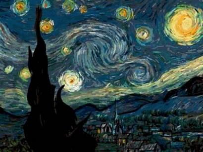 Night Starry Animated Van Gifs Gogh Ive
