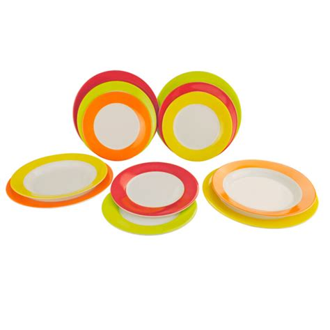 Gimex Geschirr Set by Gimex Geschirr Set Rainbow 12 Tlg 550505