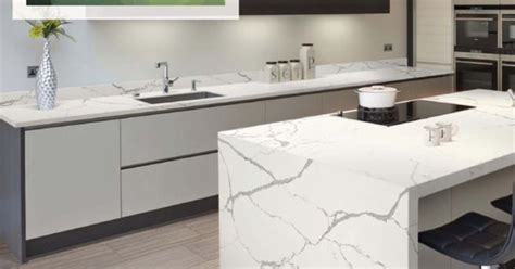Daltile One Quartz color Statuary Quartz installed on