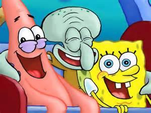 Spongebob Patrick and Squidward