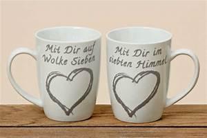 Kaffeetasse Mit Herz : kaffeetasse herz porzellan tasse mit aufdruck becher 2er set ~ Yasmunasinghe.com Haus und Dekorationen