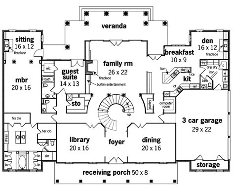 georgian floor plans le georgian home plan 020s 0002 house plans and more