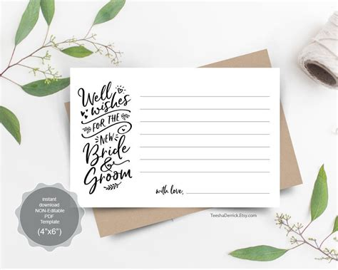 wedding  wishes card template    bride