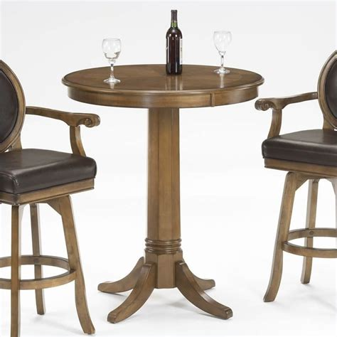 round bar height table hillsdale warrington round bar height rich cherry pub