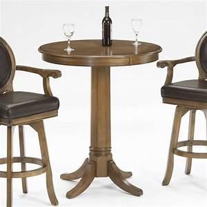 Table Bar But : hillsdale warrington round bar height pub table in rich cherry 6125ptb ~ Teatrodelosmanantiales.com Idées de Décoration
