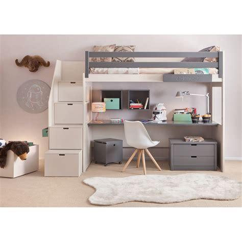 lit mezzanine avec bureau pour ado petit bureau chambre charmant petit bureau pour enfant