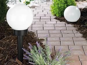 Leuchtkugeln Garten Solar : lunartec led solar kugellampe 20 cm klein tageslichtwei ~ Sanjose-hotels-ca.com Haus und Dekorationen