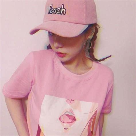 Top pink, anime, girl, sexy, tshirt, tshirt, harajuku