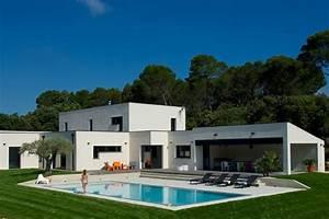 Maison En L Moderne : constructeur maison contemporaine mas provence constructeur de maison individuelle provence ~ Melissatoandfro.com Idées de Décoration