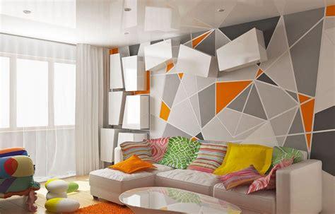 rénovation chambre à coucher papier peint géométrique la tendance qui conquit nos
