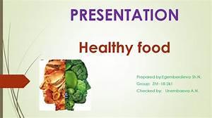 Healthy food - online presentation Dietary Proteins