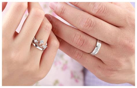cz diamond cross wedding band open heart crown engagement ring engravable promise rings