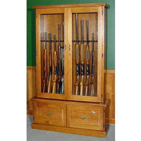 Gun Cabinets For Sale by Scout 910 Gun Cabinet Solid Oak 12 Gun Gs910