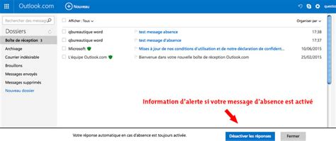 outlook message absence bureau outlook message absence bureau 28 images fonctionnalit