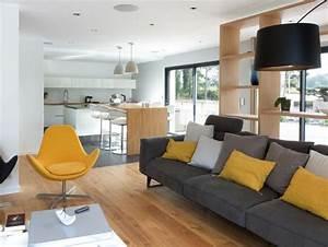 salon contemporain jaune moutarde gris twiggy deco With exceptional couleur tendance peinture salon 5 la couleur jaune moutarde nouvelle tendance dans l