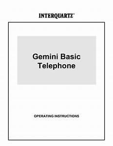 Gemini Basic Manuals