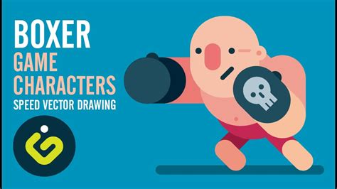 How to draw Game Character Boxer Speed Drawing Adobe