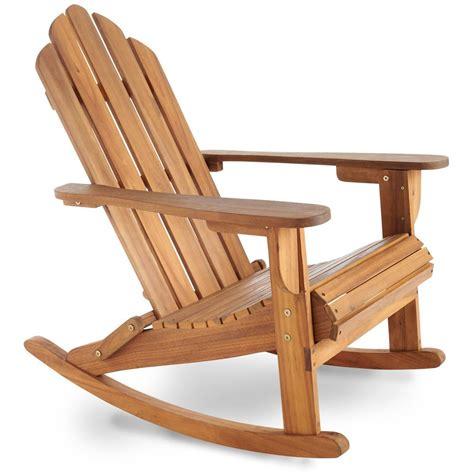 rocking adirondack chair hardwood vonhaus domu