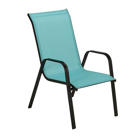 essential garden bartlett light blue stacking chair kmart