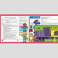 * New * Eyfs Maths Train Journey Addition Whole Class Adult Input Plan And