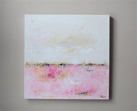 original abstract landscape oil painting white