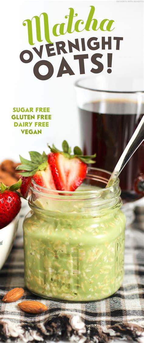 Add 2 tbsp peanut butter to the recipe. Healthy Matcha Green Tea Overnight Oats Recipe | Gluten Free, Vegan
