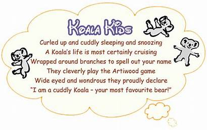 Koala Poems Children Letters Wodden Iwood Poemsearcher