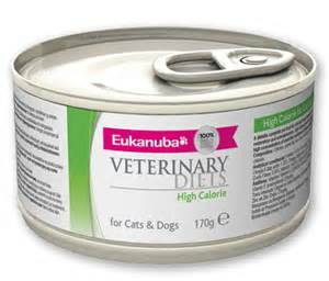 high calorie cat food eukanuba veterinary diet high calorie and cat can food