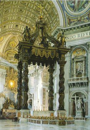 Caratterizzano Il Baldacchino Di Bernini In San Pietro by Alcune Opere Di Bernini A Roma