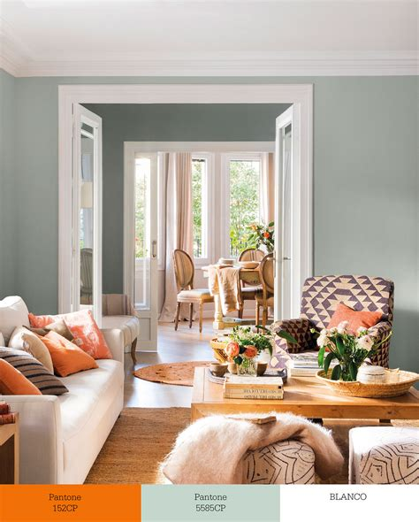 sofa verde y naranja tr 237 os de colores que transforman tu sal 243 n