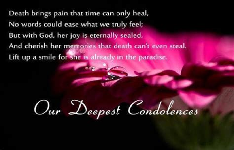 condolence messages death  father mother