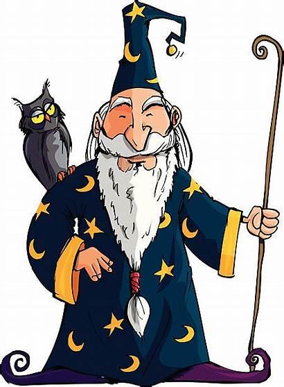 Wizard Merlin Illustrations Clip Cartoon Illustration Vector