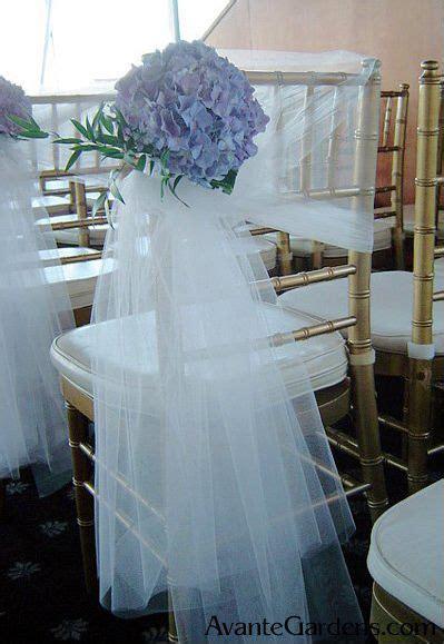tulle hydrangea chair decoration  avante gardens