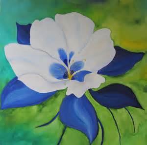 Colorado State Columbine Flower Painting