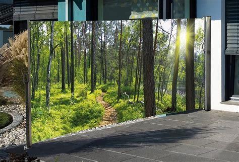 Mit Fotodruck by Hti Living Seitenmarkise Mit Fotodruck 187 Wald 171 Auszug
