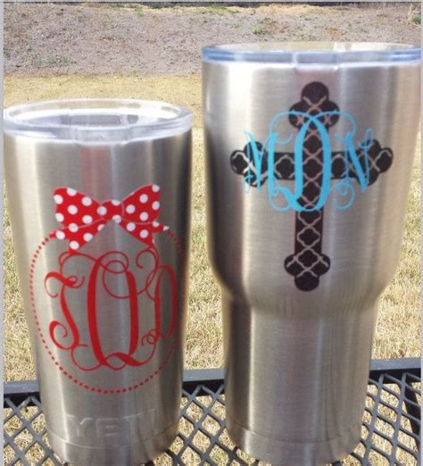 images  rtic cup design ideas  pinterest monogram decal vinyl decals  cute