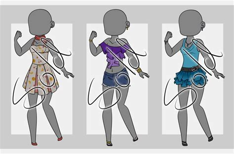 The ultimate pant lenghts fashion vocabulary. Summer Outfit Adopts (closed) by VioletAether.deviantart ...