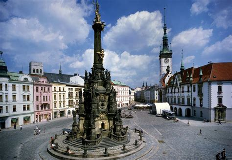 3 column brochure czech republic holy trinity column in olomouc