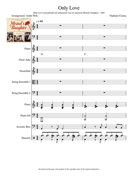 Only Love Sheet Music For Flute Piano Cello Voice