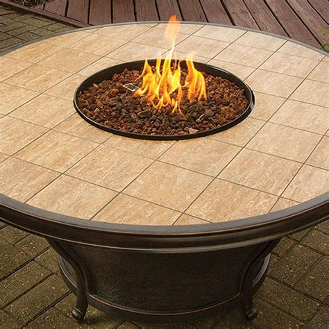 table top pit outdoor gas pit table with porcelain tiled top