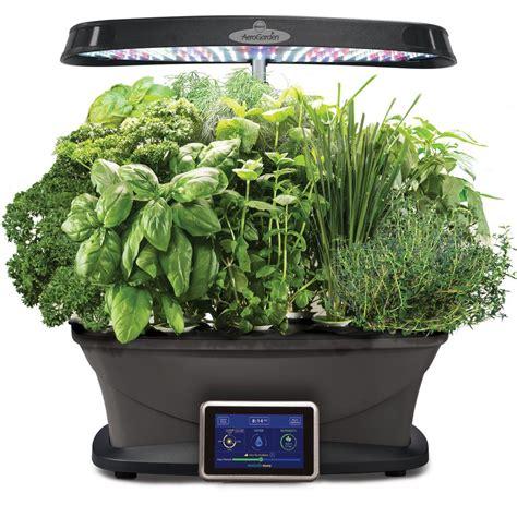aero herb garden miracle gro aerogarden bounty with gourmet herb seed pod 1168