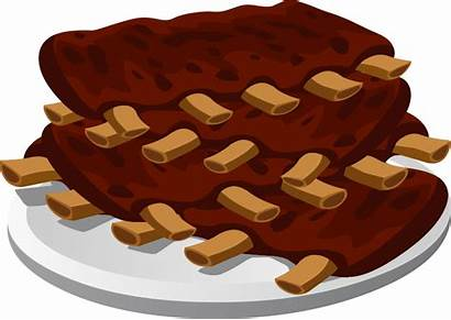 Clipart Sparerib Clip Meat Plate Ribs Clipground