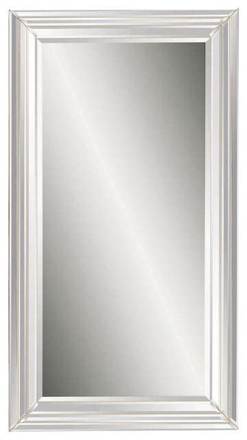 floor mirror houzz bassett mirror beveled glass floor mirror in antique style frame reviews houzz