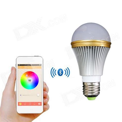 e27 7w colorful light bluetooth smart led l bulb for