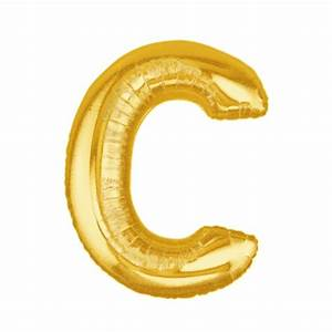 gold letter c balloon gold letter balloon 40 With 40 gold letter balloons