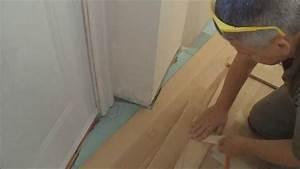 Cork flooring over uneven concrete gurus floor for How to put down hardwood floors on concrete