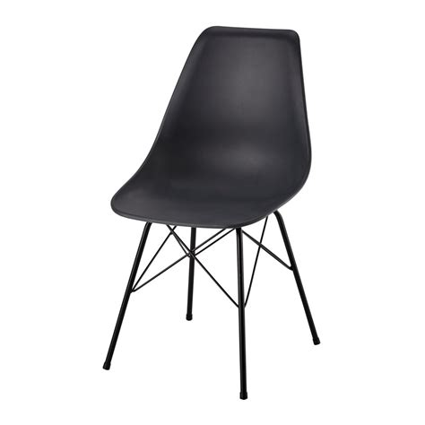 chaise metal maison du monde polypropylene and metal chair in charcoal grey cardiff